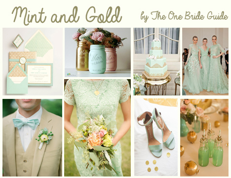 Mint And Gold Board
